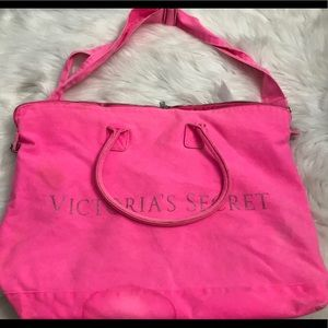 Ladies hot pink Victoria's Secret tote bag